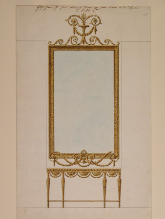 Glass Frame for Front Drawing Room, one pair, stairs at Mr. Child's in Berkly Square