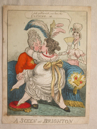 A sceen at Brighton: King George IV (1762-1830)