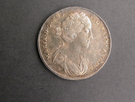 Coin commemorating the coronation of Queen Mary II (1662-1694) in 1685