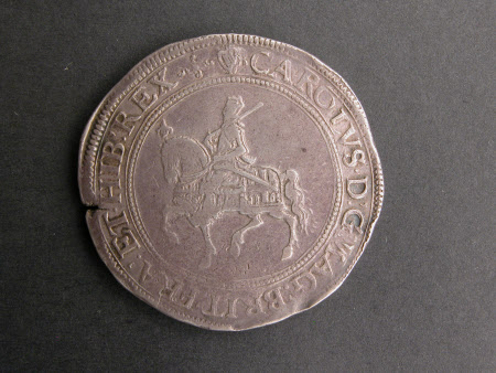 Crown silver coin, from the reign of King Charles I (1600-1649)