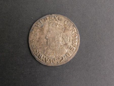 Shillin brass coin, from the reign of King Charles I (1600-1649)