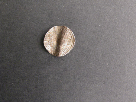 Shilling brass coin, from the reign of King Charles I (1600-1649)