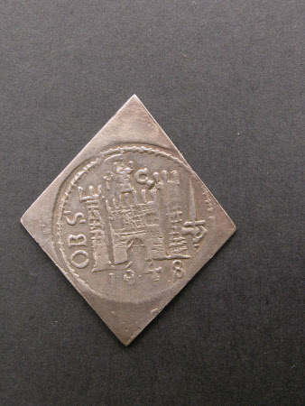 Coin, Shilling, from the reign of King Charles I (1600-1649): 1648