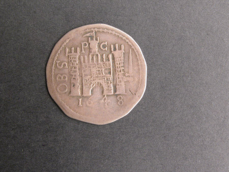 Coin, Shilling, from the reign of King Charles I, 1648