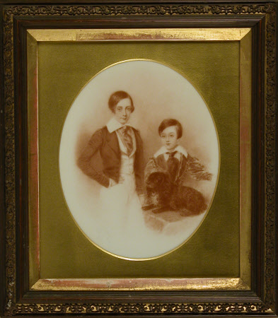 Lionel Sackville-West, later 2nd Baron Sackville (1826-1908) and his brother The Hon. William ...