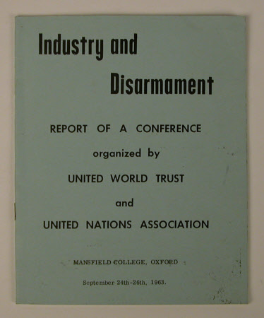 Industry and disarmament: report of a conference