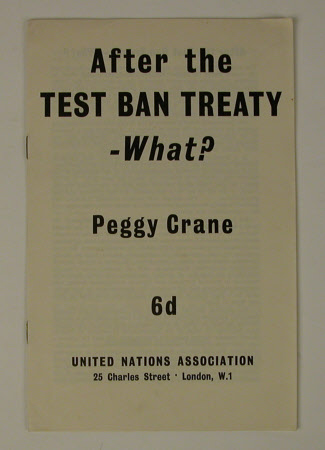 After the Test Ban Treaty - what?