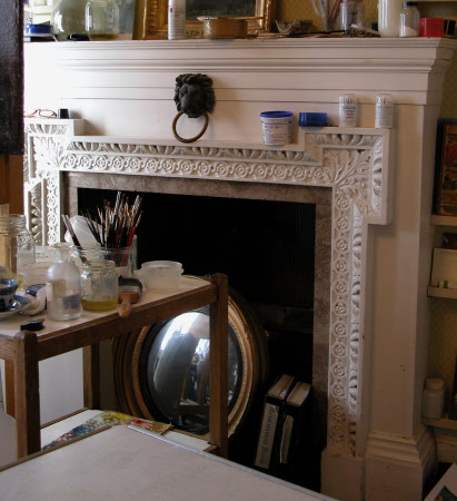 Chimneypiece, Studio, Hatchlands