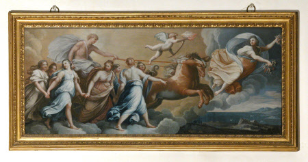 Aurora Leading the Carriage of Apollo Surrounded by the Hours (after Reni)