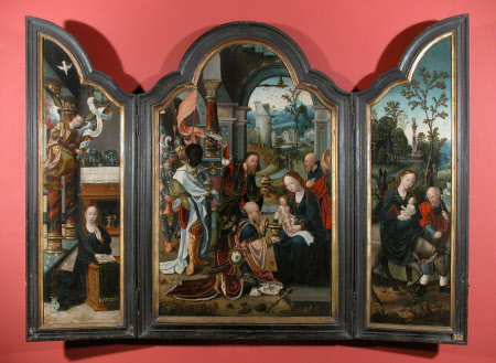 Triptych: The Annunciation; The Adoration of the Magi; The Flight into Egypt