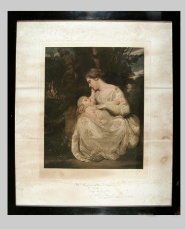 Susanna Cecilia Dingley, Mrs Richard Hoare (1743-1795) and her daughter Susanna Cecilia Hoare ...