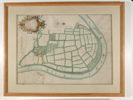 Map/plan of a Survey of Barn Elms the Estate of Sir Richard Hoare Kt, 1752