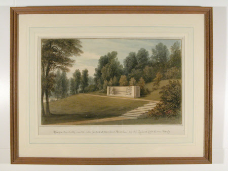 View of a Seat Lately Erected in the Gardens of Stourhead, Wiltshire by Sir Richard Colt Hoare, ...