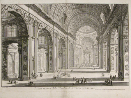 Interior of the Basilica of St Peter's, Rome