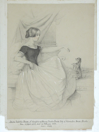 Laura Isabella Hoare (1829-1858) and her Dog