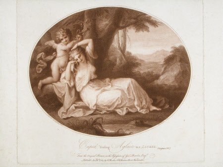 Cupid binding Aglaia to a Laurel (after Angelica Kauffman)