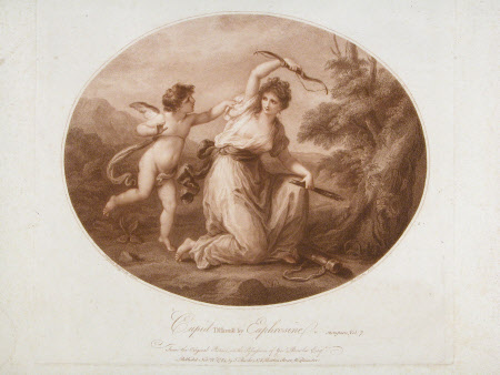 Cupid Disarmed by Euphrosine (after Angelica Kauffman)