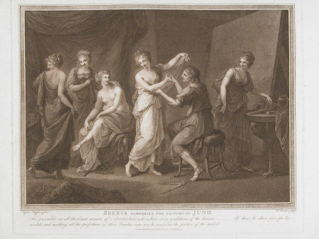 Zeuxis composing the Picture of Juno (after Angelica Kauffman)