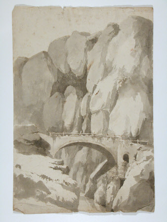 Bridge in a Rocky Mountain Landscape