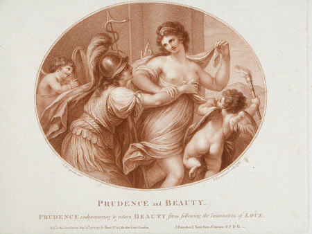 Prudence and Beauty (after Giovanni Baptista Cipriani, RA)