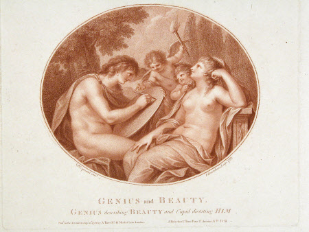 Genius and Beauty (after Giovanni Baptista Cipriani, RA)