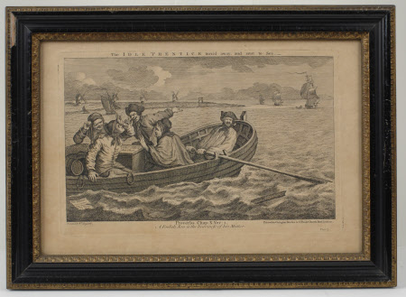 Industry and Idleness - Plate 5.  The Idle 'Prentice turned away and sent to sea