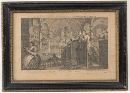 Industry and Idleness - Plate 2. The Industrious 'Prentice performing the Duty of a Christian
