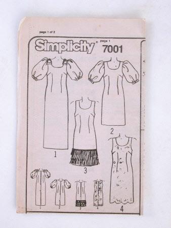 Dress pattern instructions