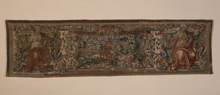 Tapestry border with Jupiter