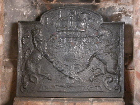Fireback with Charles I Coat-of-arms dated 1635