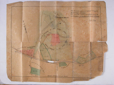 Map of Packwood House and lands, Warwickshire