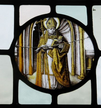 Stained glass window roundel