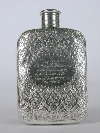 Welsh Fleur de Lys Hip Flask
