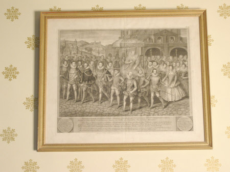 The Procession Picture of Queen Elizabeth I (1533–1603) to Blackfriars, 1600 (after Robert Peake ...
