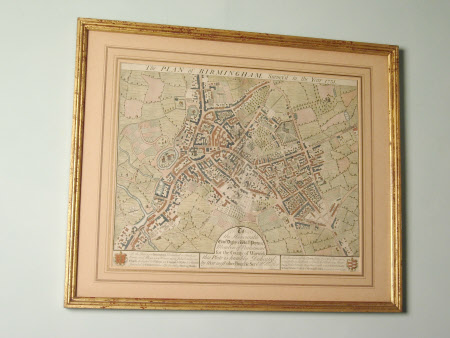 Map/plan of Birmingham surveyed in the year 1731