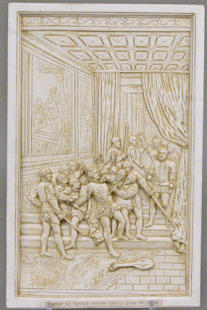 The murder of David Rizzio (?1533-1566) before Mary Queen of Scots(1542–1587)