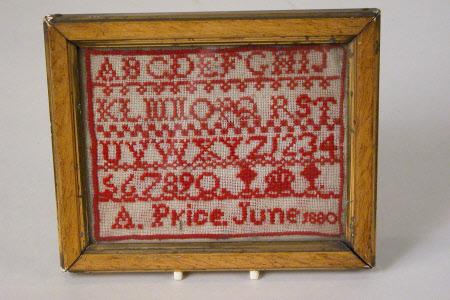 Sampler, Alphabet and Numerals