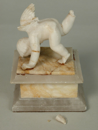 Cherub Somersaulting, on the lid of a box