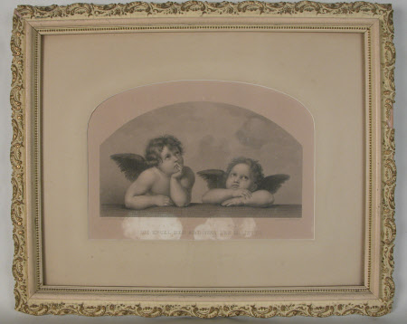 Two Angels from The Sistine Madonna (after Raphael)