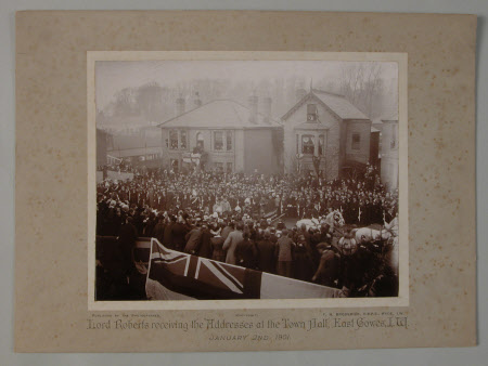 Lord Roberts receiving the Addresses at the Town Hall, East Cowes, I.W., January 2nd, 1901