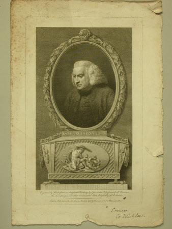 Dr. Samuel Johnson (1709-1784)(after John Opie)