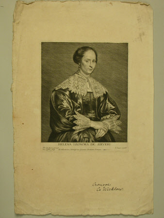 Helena Leonora De Sieveri (Héléne Leonore du Bois) (after Sir Anthony Van Dyck)