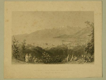 Beirout, the ancient Berothah. Bairuth et le Mont Liban (after William Henry Bartlett the elder)
