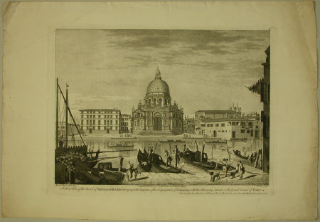 A front view of the church of Madonna della Salute belonging to the Regulars of the congregation of ...