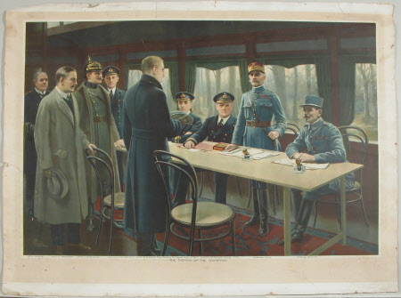 The signing of the Armistice, November 11th 1918.