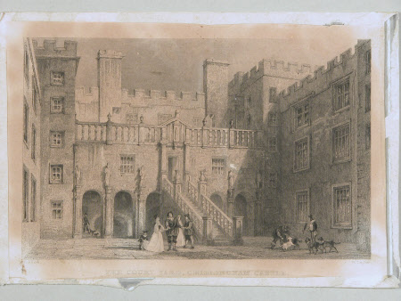 The Couryard, Chillingham castle (after Thomas Allom)