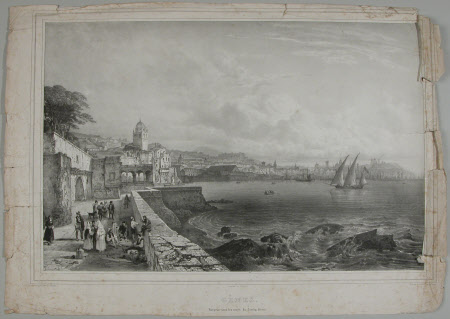 View of Genoa from the gardens of the Doria Palace (after Jean Baptiste Chapuy)