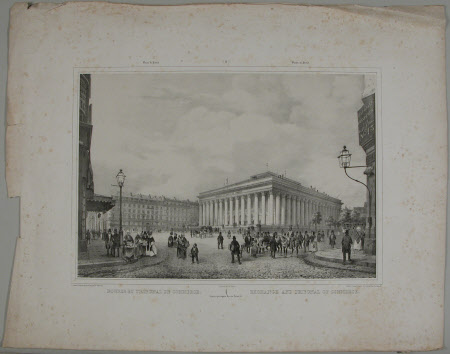 The Exchange and Tribunal of Commerce, Paris (after Adolphe-Jean-Baptiste Bayot)