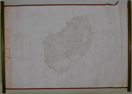 Map of County Down, Northern Ireland: 1835