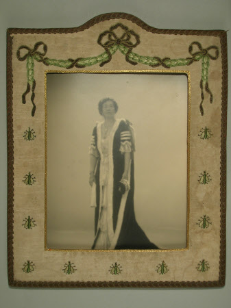 Agnes Elizabeth Hamilton, Viscountess Bagnor (c.1878-1972)  in coronation robes